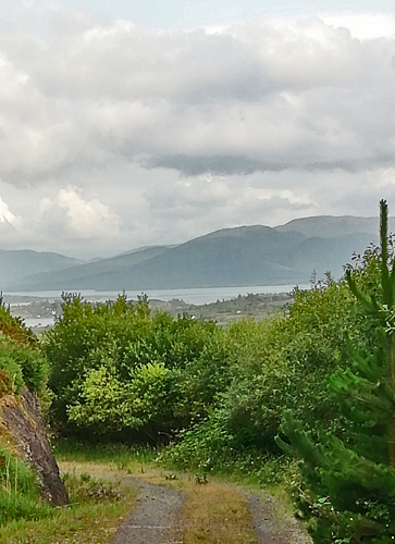 View from top of Lomanagh Hill Sneem