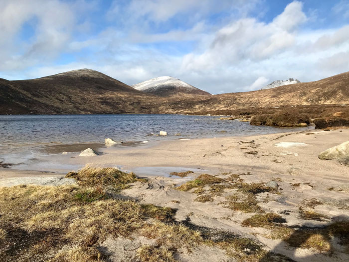 Sandy Lough Shannagh in the Mourne Mountains