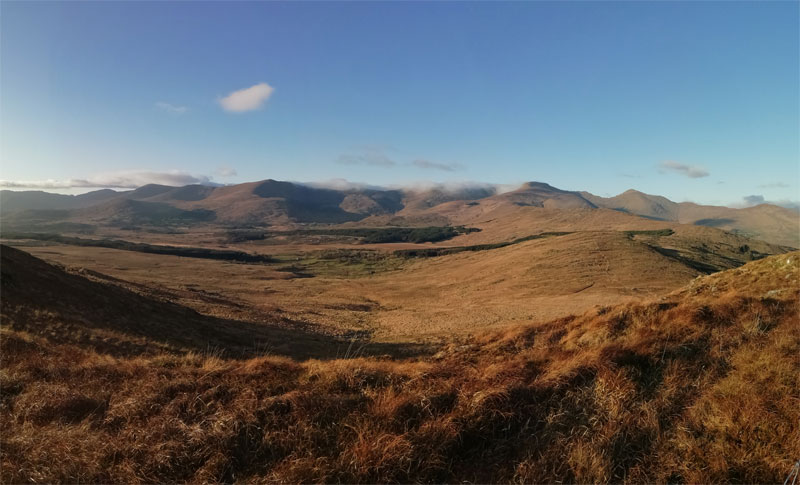 Dunkerron Mountains as viewed from Killarney Road, Sneem