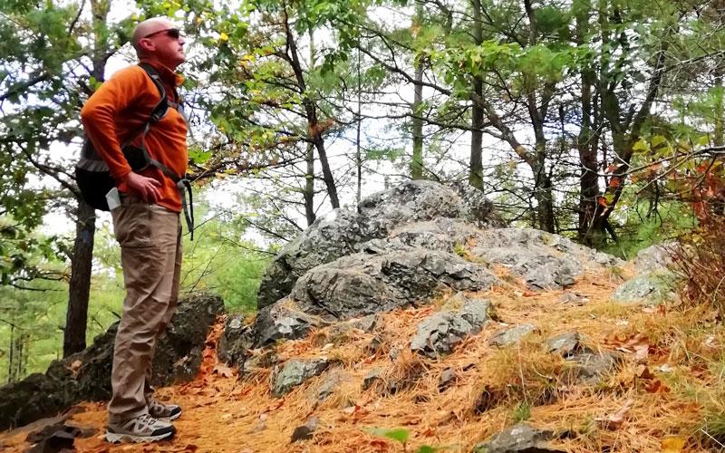 Fergal Harrington leading a guided walking tour in Ireland