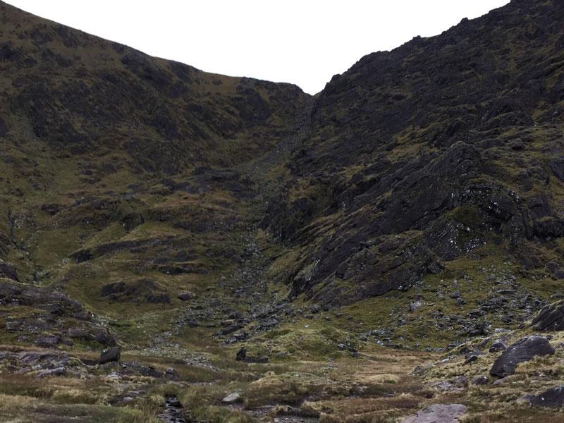 Steep Climb up Devil's Ladder Route to Carrauntoohil