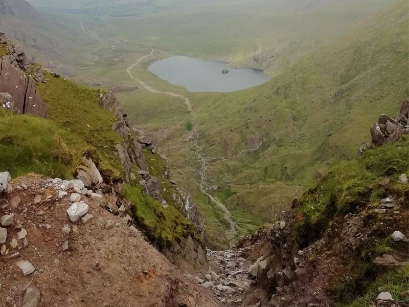 Climbing Carrauntoohil via Devil's Ladder