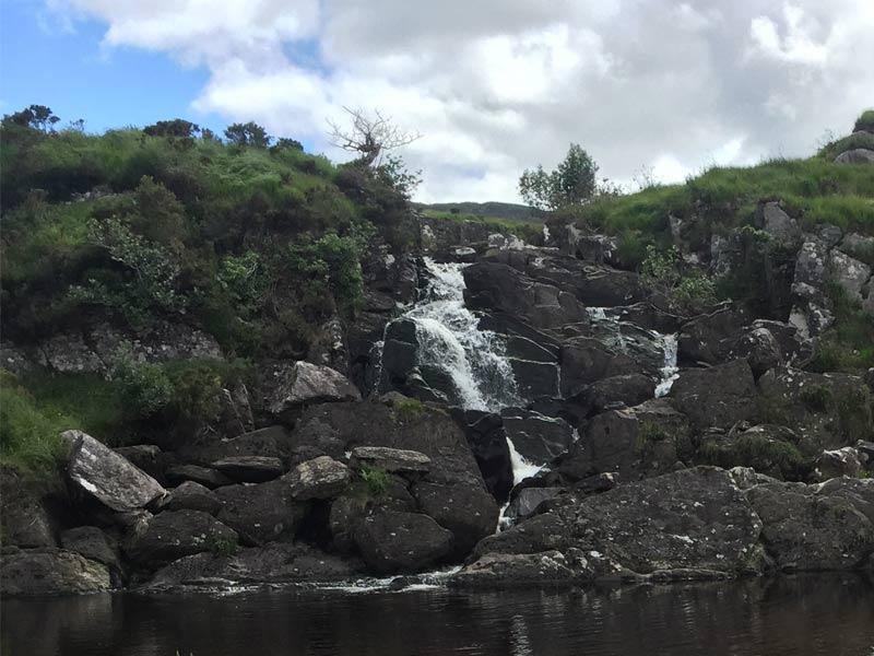 Walking the Kerry Way you'll reach Cores Cascade
