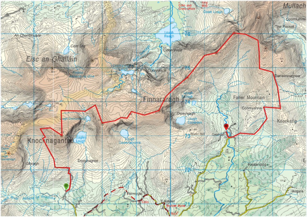 Sneem Dunkerron Route Map