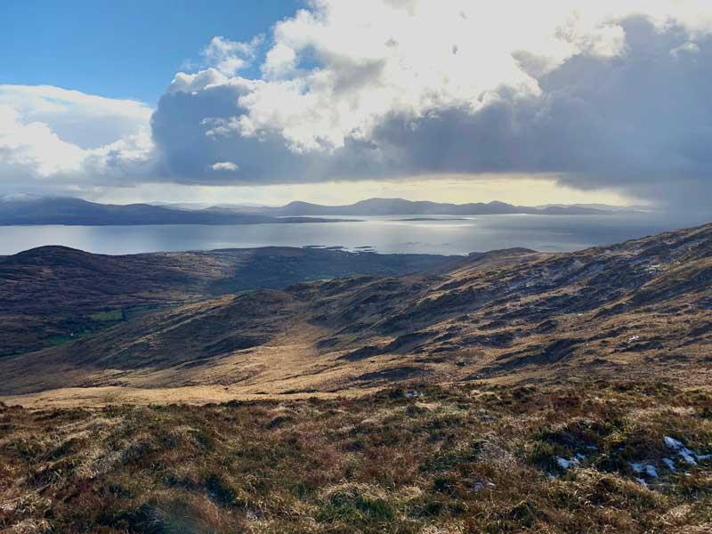 View across Kenmare Bay to the Beara Peninsula