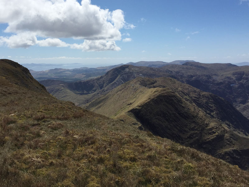 View across the Western Ridge of The Sneem Dunkerrons
