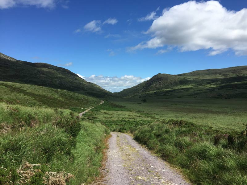 Expansive Valley on Álaind's Kerry Way Walking Holiday