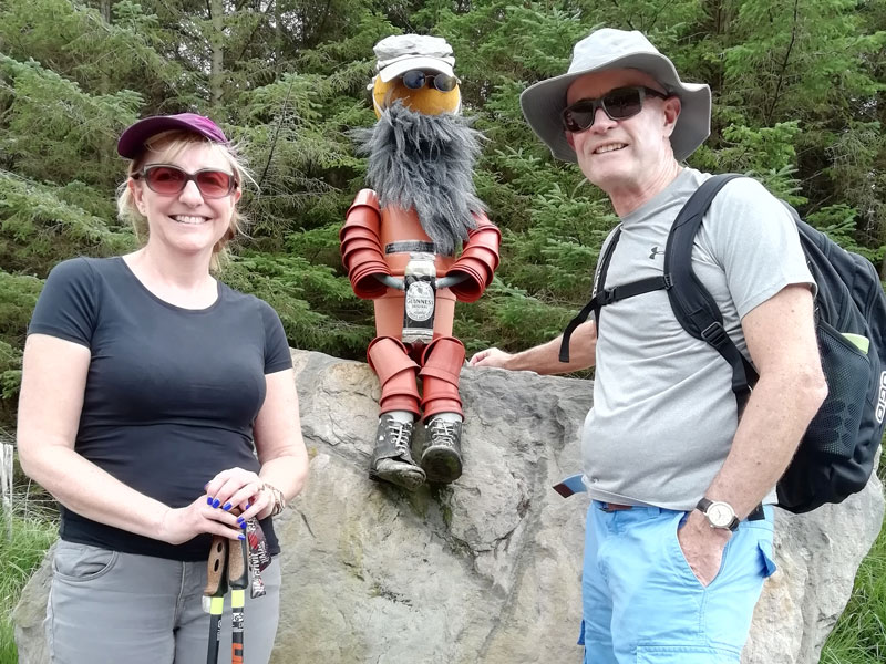 Meeting Friendly Characters on on Álaind's Kerry Way Walking Holiday