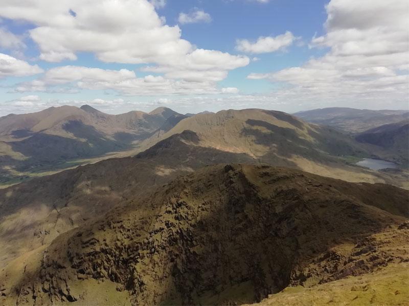 View from Mullaghanattin to Carrauntoohill