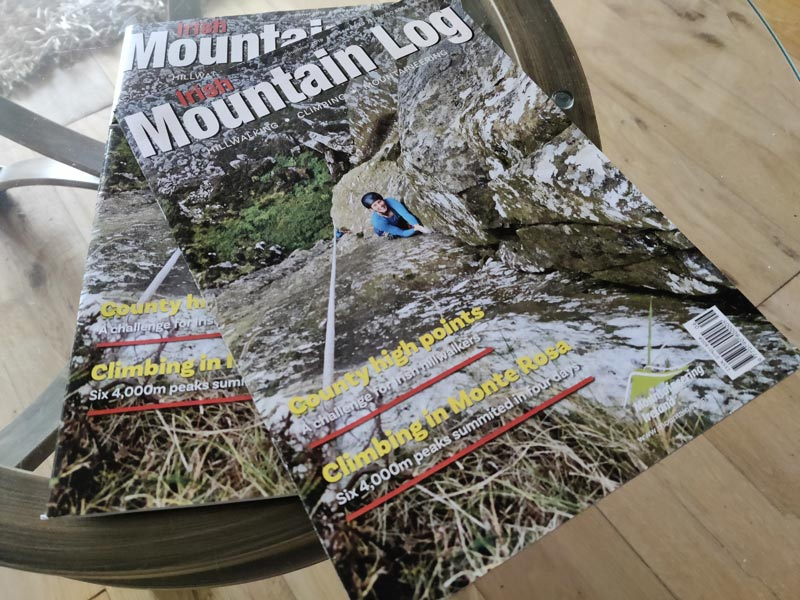 Irish Mountain Log is the membership magazine of Mountaineering Ireland.