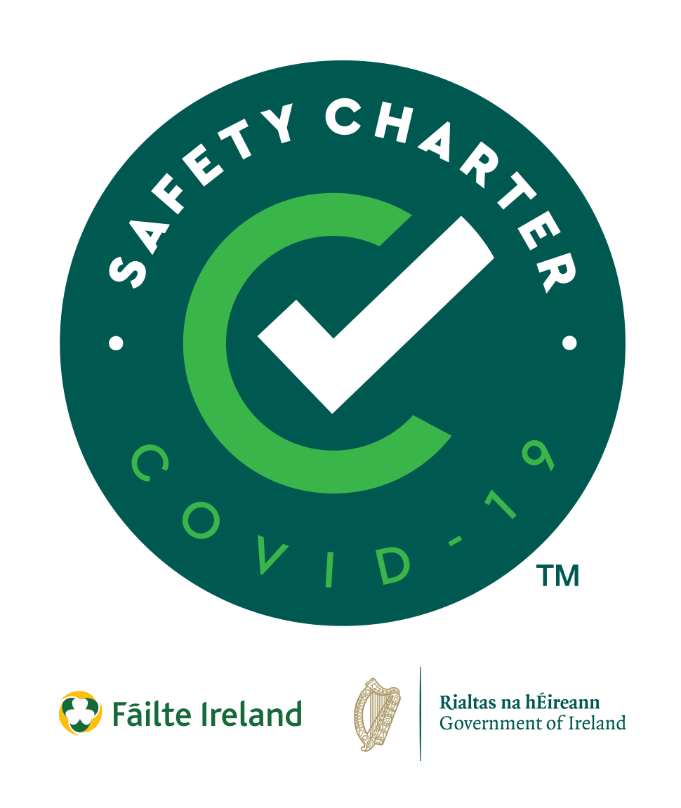 Failte Ireland Covid-19 Safety Charter Award to Álaind Lodges